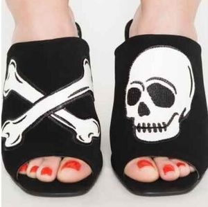 68ea4e0e33a Women Skull Slip On Shoes on Poshmark